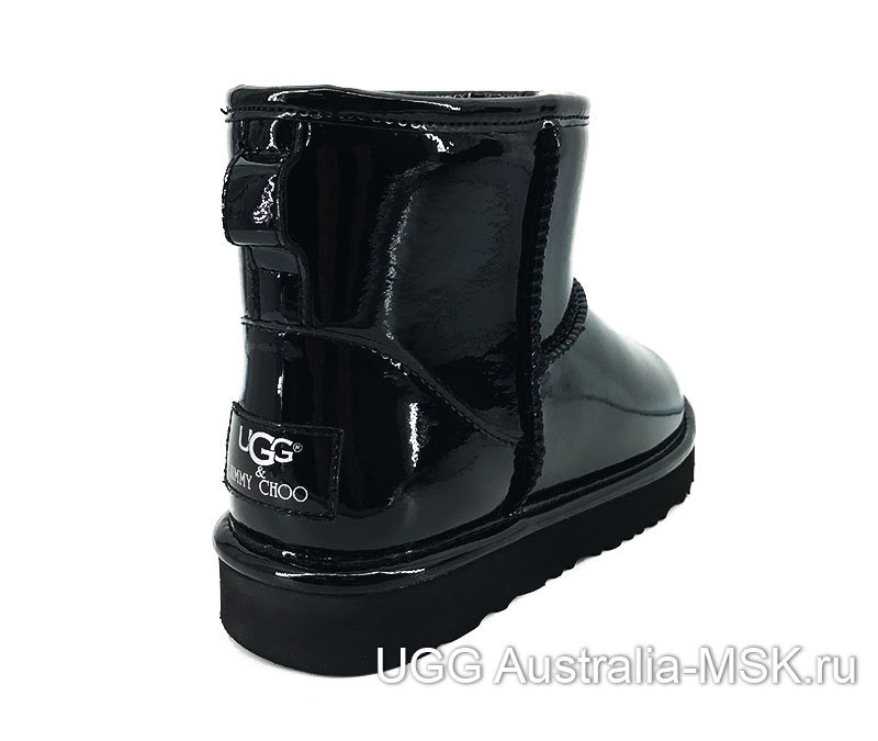 UGG & Jimmy Choo Mini Patent II Black