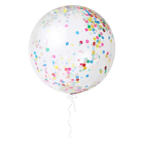 Воздушные шары с конфетти, яркие, бол.