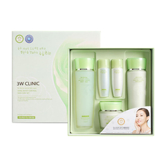 [3W CLINIC] УЛИТОЧНЫЙ МУЦИН Набор д/лица Snail Moist Control Skin Care 3SET, тоник/эмульсия/крем