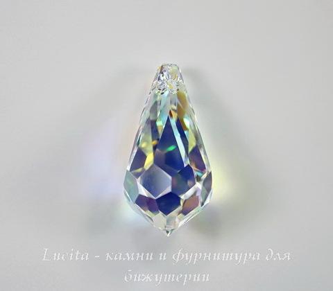 6000 Подвеска Сваровски Drop Crystal AB (28х14 мм)