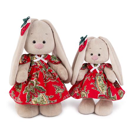 Зайка Ми в красном платье с клубничкой (малая)