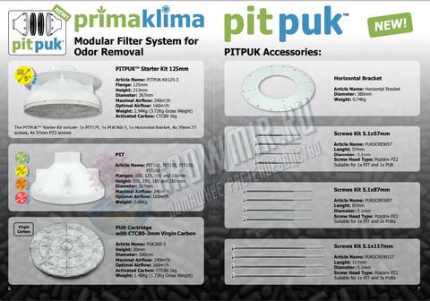 Угольный фильтр PIT PUK Ø125mm - Prima Klima