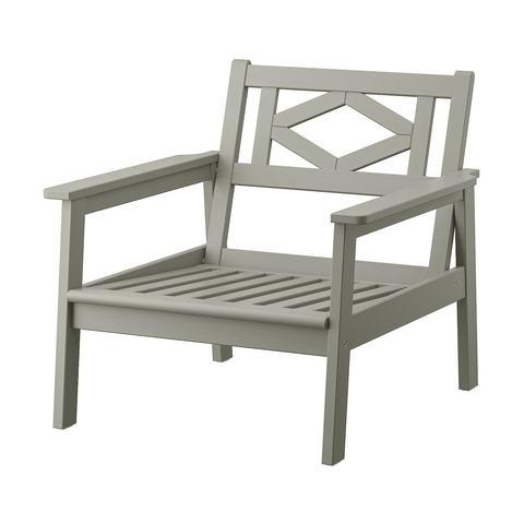 БОНДХОЛЬМЕН Садовое кресло, серый морилка