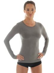 Женская терморубашка Brubeck Comfort Wool (LS12150) серая