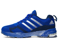 Кроссовки Мужские Adidas Flyknit Marathon Blue Black