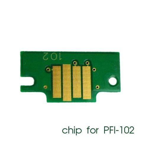 Чип для картриджей PFI-102C для Canon imagePROGRAF iPF605, iPF710, iPF750, iPF760, iPF765, iPF510, iPF500, iPF600, iPF610, iPF650, iPF700, iPF720, Cyan (голубой) совместимый