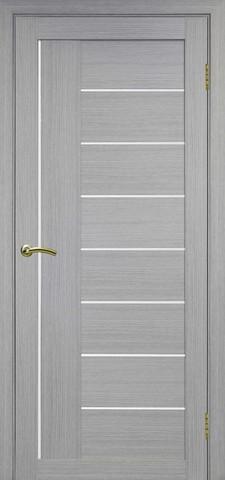Дверь Optima Porte Турин 524.21, стекло Мателюкс, цвет дуб серый, остекленная