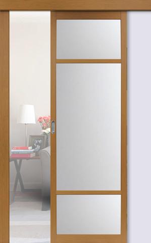 Перегородка межкомнатная Optima Porte 131.222, стекло матовое, цвет орех классический, остекленная (за 1 кв.м)
