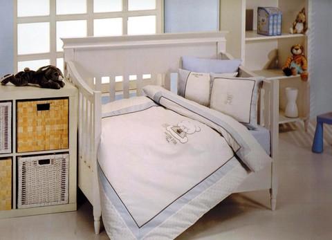 Постельное белье  в кроватку для мальчика DEAR PANDA- ДИР ПАНДА / Maison Dor (Турция)