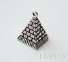"Подвеска 3D ""Пирамида"" 20х13 мм (цвет - античное серебро)"