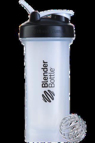 BlenderBottle Pro45,1330 мл Большой Шейкер с Шариком-Пружиной Прозрачный черный