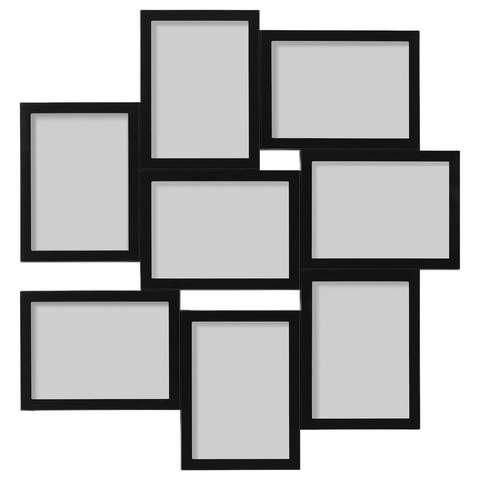 ВЭКСБУ Рама для коллажа на 8 фото, черный, 13x18 см