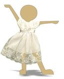 Платье кружевное - Демонстрационный образец. Одежда для кукол, пупсов и мягких игрушек.