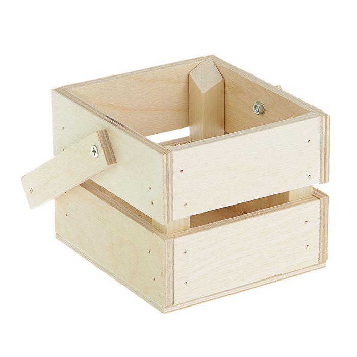 Ящик реечный, 11 х 12 х 9 см с ручкой, 1 шт.