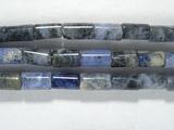 Нить бусин из содалита, фигурные, 3x5 мм (цилиндр, гладкая)