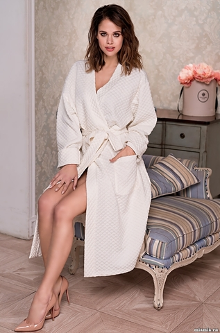 Длинный классический халат Mia-Amore 6589 NADIN