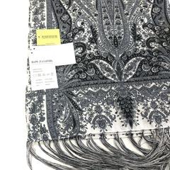 Шарф черно-белых оттенков в Русском стиле, магазин aksisur.ru