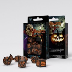 Halloween Pumpkin Black & orange Dice Set