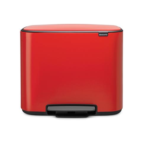 Мусорный бак Bo  (11 л + 23 л), Пламенно-красный, арт. 121166 - фото 1