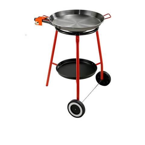 Газовая горелка для пищи на подставке и паэльера: набор для паэльи Andreu. Фото