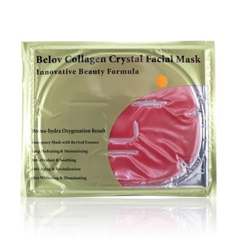 Маска для лица Collagen crystal facial mask с красным вином, Belov