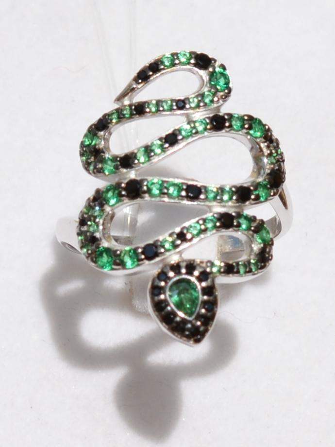 Змея-12581 (кольцо из серебра)