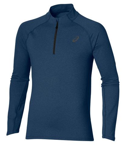 ASICS LS 1/2 ZIP JERSEY  мужская беговая рубашка синяя
