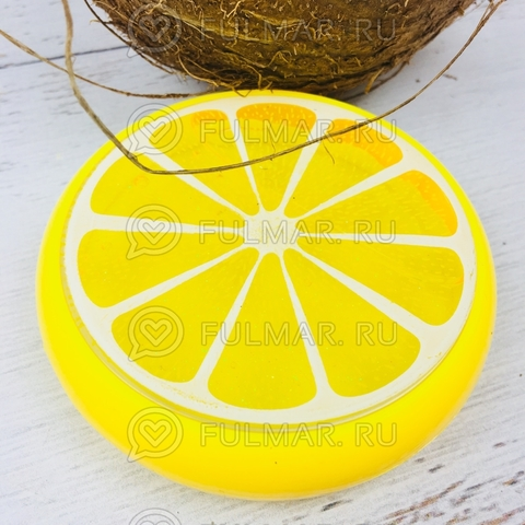 Слайм лизун фрукт антистресс с блестками Лимон Жёлтый
