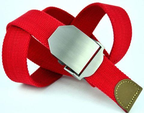 Ремень текстильный красный стропа 4 см 40Stropa-007