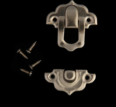 Замок для шкатулки + гвоздики, набор 10 шт, 2,9х3 см. Металл.