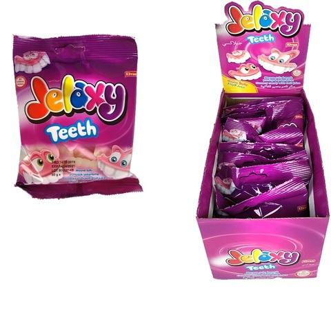 Jelaxy Teeth (Зубы) Жевательный мармелад с фруктовым соком 1кор*6бл*12шт, 80гр