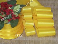 Лента атласная шириной 6мм желтая - 012