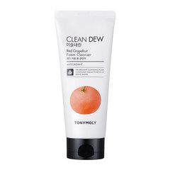 Tony Moly Clean Dew Red Grape Fruit Foam Cleanser - Пенка для умывания для увядающей кожи лица с грейпфрутом