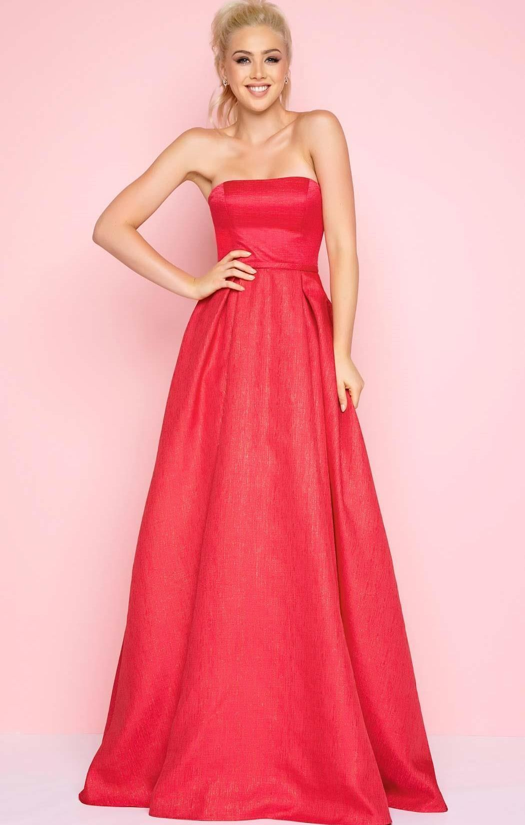 Mac Duggal 16213 Платье длинное, пышное,красное, однотонное