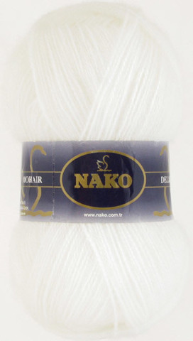 Купить Пряжа Nako Mohair Delicate Код цвета 6101 | Интернет-магазин пряжи «Пряха»
