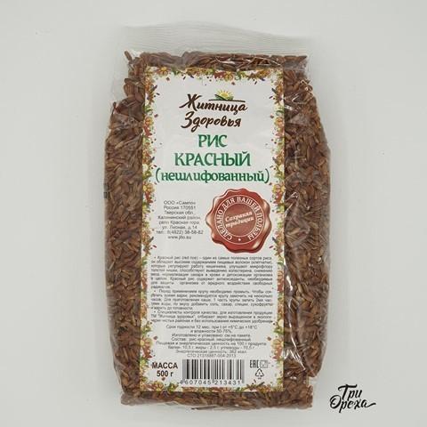 Рис красный нешлифованный ЖИТНИЦА ЗДОРОВЬЯ, 500 гр