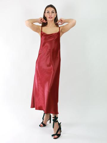 Платье-комбинация из атласа