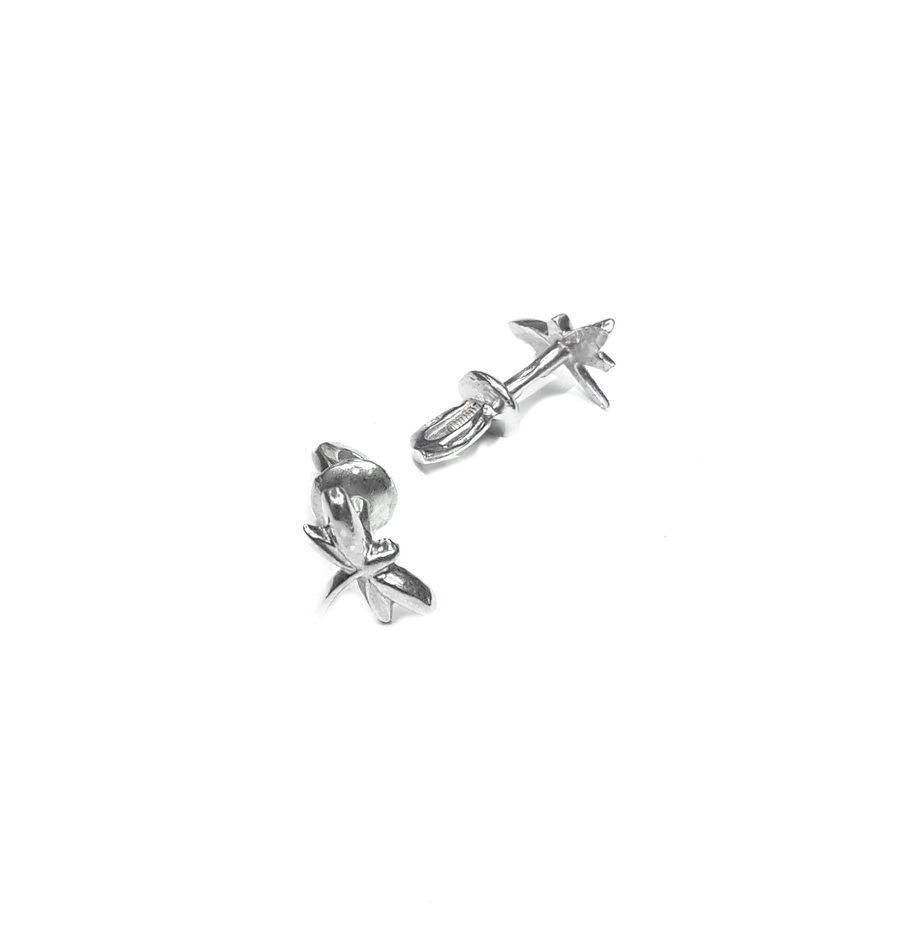Dragonfly studs Earrings, Sterling Silver