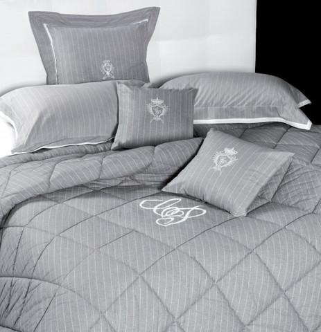 Постельное белье 2 спальное евро Cesare Paciotti Lord Byron светло-серое
