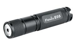 Фонарь-брелок на ключи Fenix E05 черный, 85 люмен (34284)