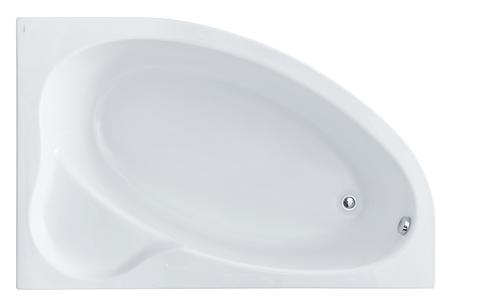 Акриловая ванна Santek Эдера 170х110 R асимметричная белая 1WH111994