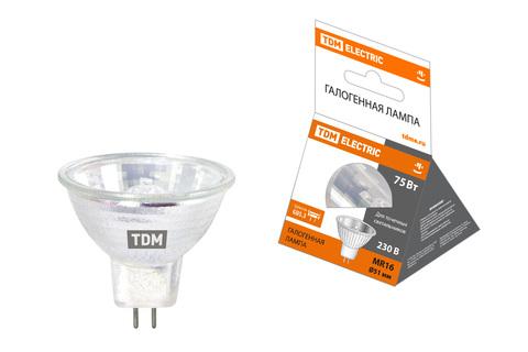 Лампа галогенная с отражателем MR16 (JCDR) - 75 Вт - 230 В - GU5.3 TDM