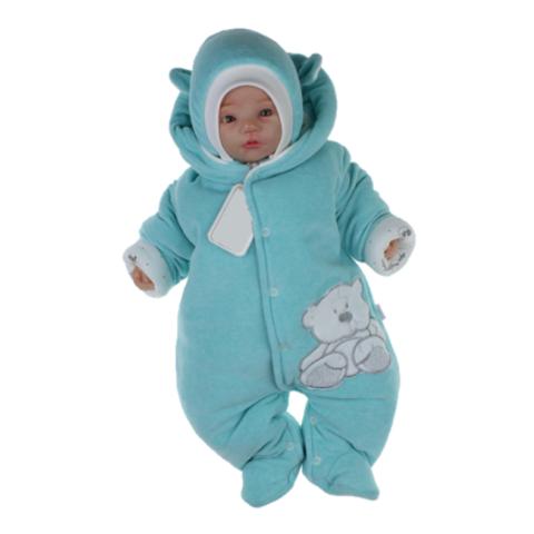 Комбинезон для новорождённого с шапкой Умка мятный меланж