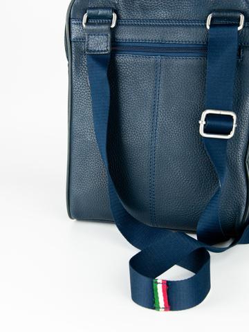 Кожаная сумка через плечо  Aeronautica Militare blue, AM-311, фото 6