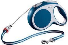 Поводок-рулетка Flexi VARIO M (до 20 кг) 8 м трос синяя