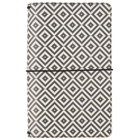 Блокнот- Carpe Diem Traveler's Notebook- Aztec Black & White, Good Vibes