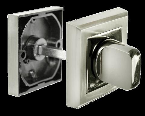 Фурнитура - Завёртка  Morelli MH-WC-S SN/BN, цвет белый никель/чёрный никель ЦАМ - (сплав, содержащий цинк, алюминий и медь) + многослойное гальваническое покрытие
