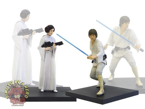 Kotobukiya Luke Skywalker & Princess Leia A New Hope ARTFX+ Double-Pack