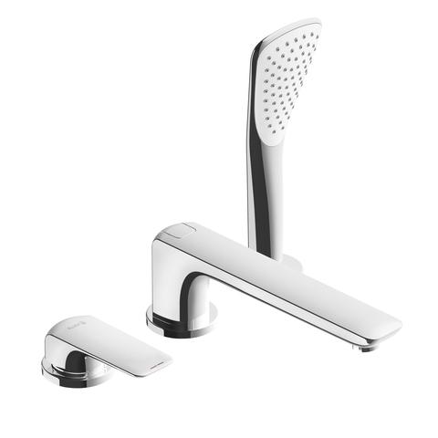 KLUDI AMEO Однорычажный смеситель для ванны и душа на 3 отверстия с изливом