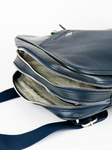 Кожаная сумка через плечо  Aeronautica Militare blue, AM-311, фото 7